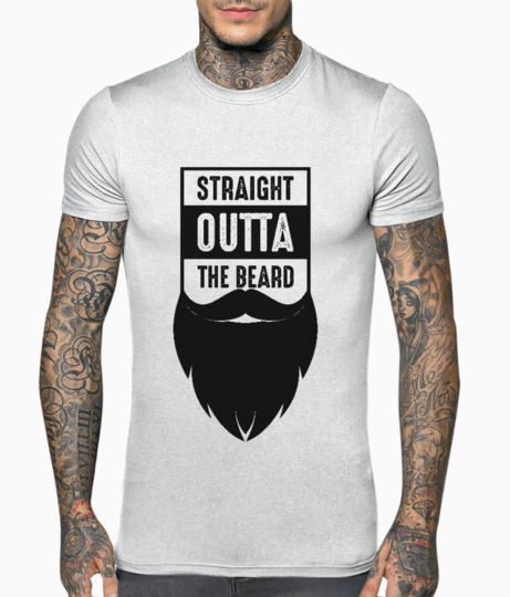 Straight outta the beard black t shirt front
