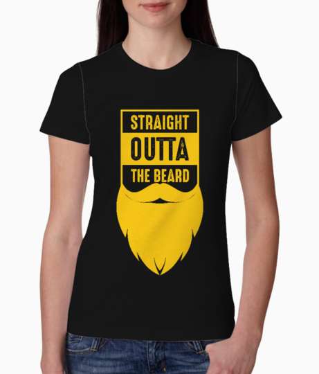 Straight outta the beard yellow tee front