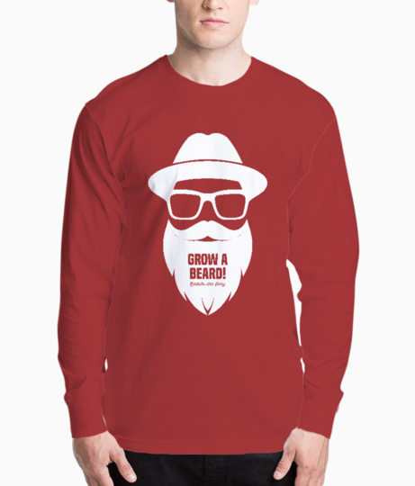 Grow a beards are sexy henley front