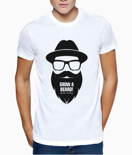 Grow a beard t shirt front