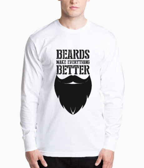 Beards make everything better henley front