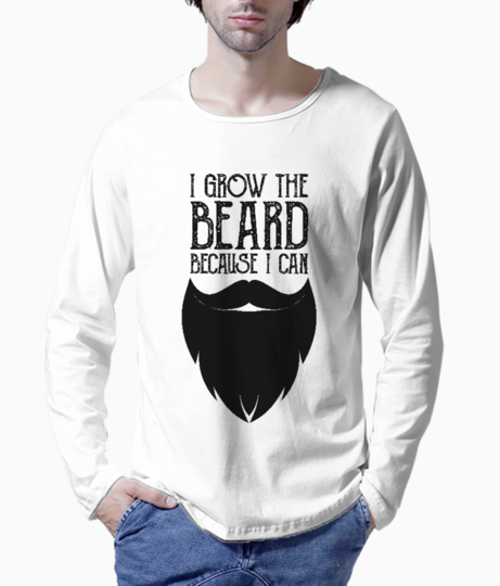 I grow the beard henley front