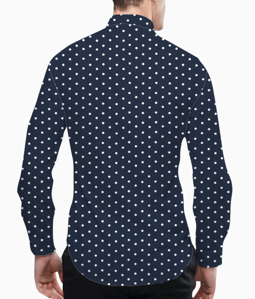 Spot dot basic shirt back