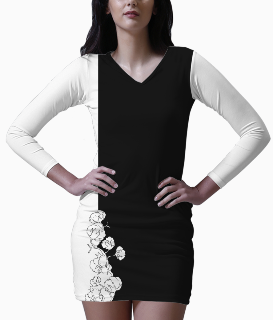 6 bodycon dress front