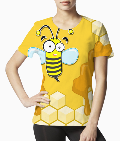 Yellow bee tee front