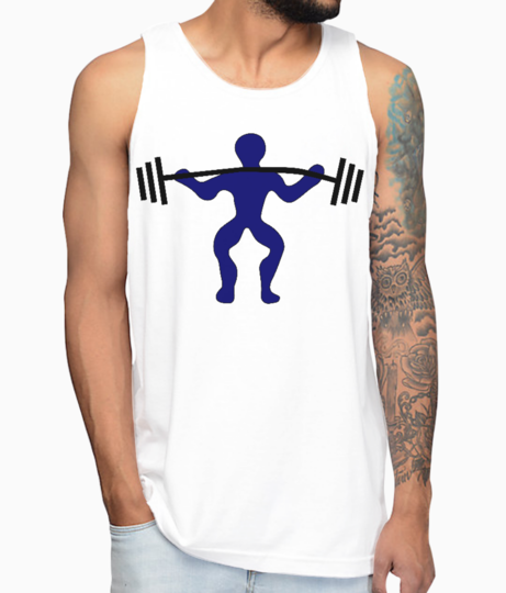 Weight lifter gym collection vest front