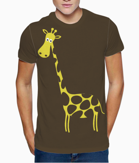 Brown giraffe t shirt front