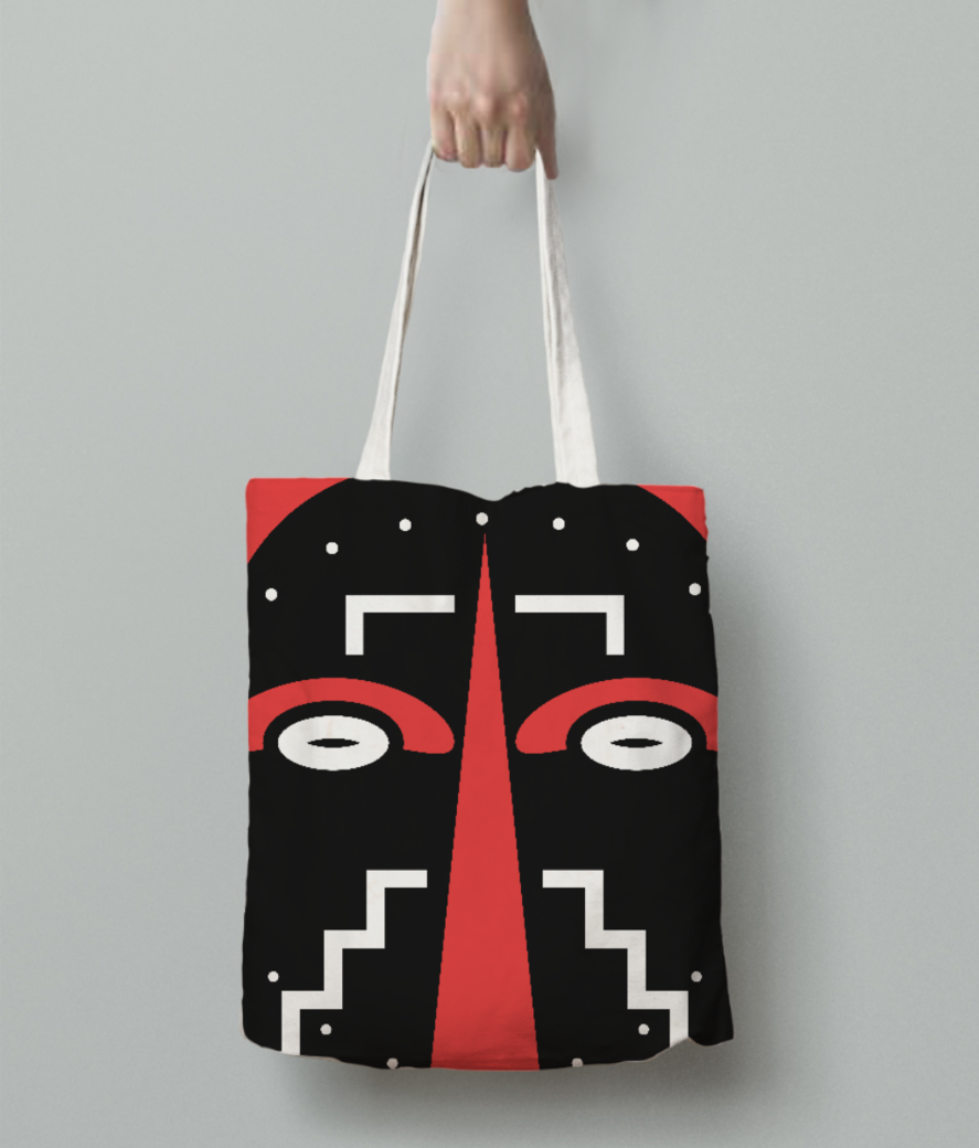 Ligbi mask tote bag back