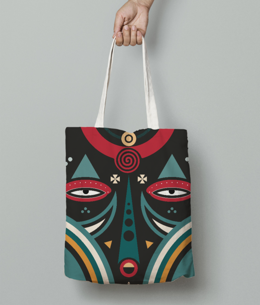 Maasai warrior tote bag front