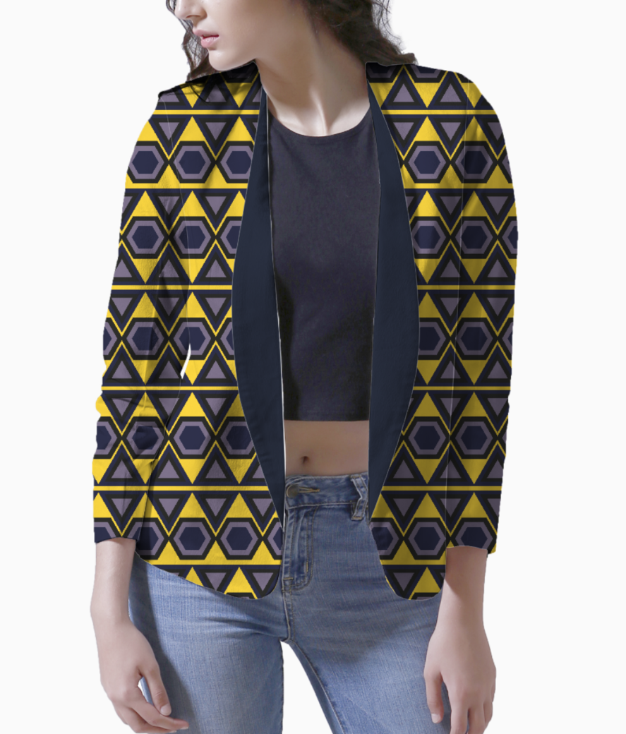 Hawaiian triangle blazer front