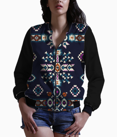 Aztec print design pattern japan newlook o bomber front