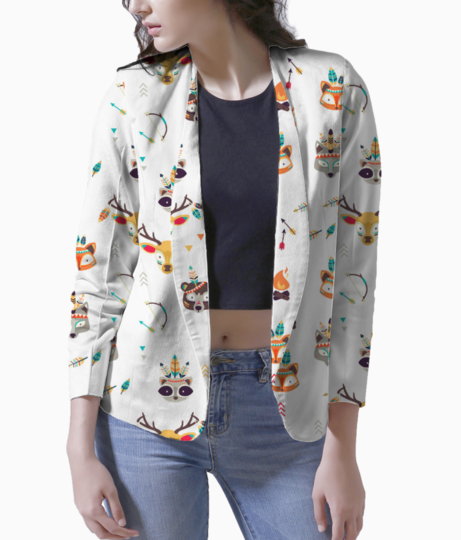Quirky tribe blazer front
