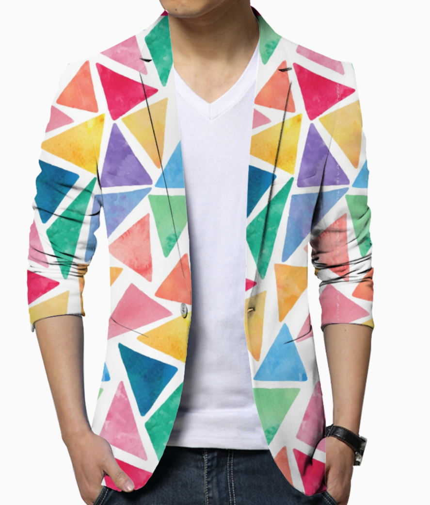 Colorful triangle 001 blazer front