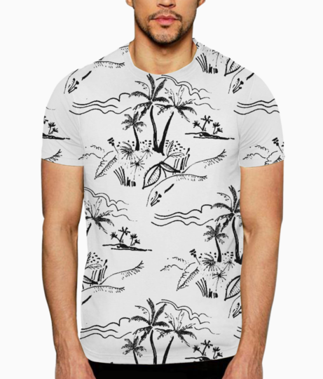 Felt tip tropical t shirt front