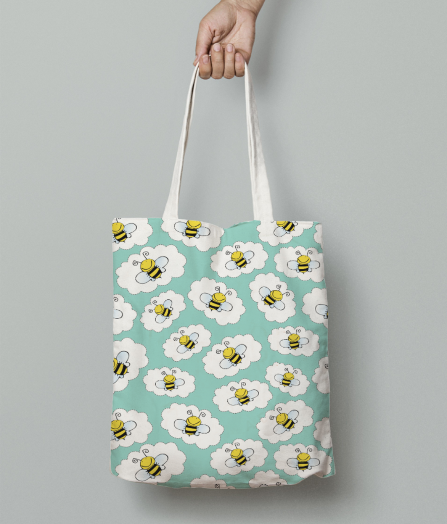 Bees tote bag front