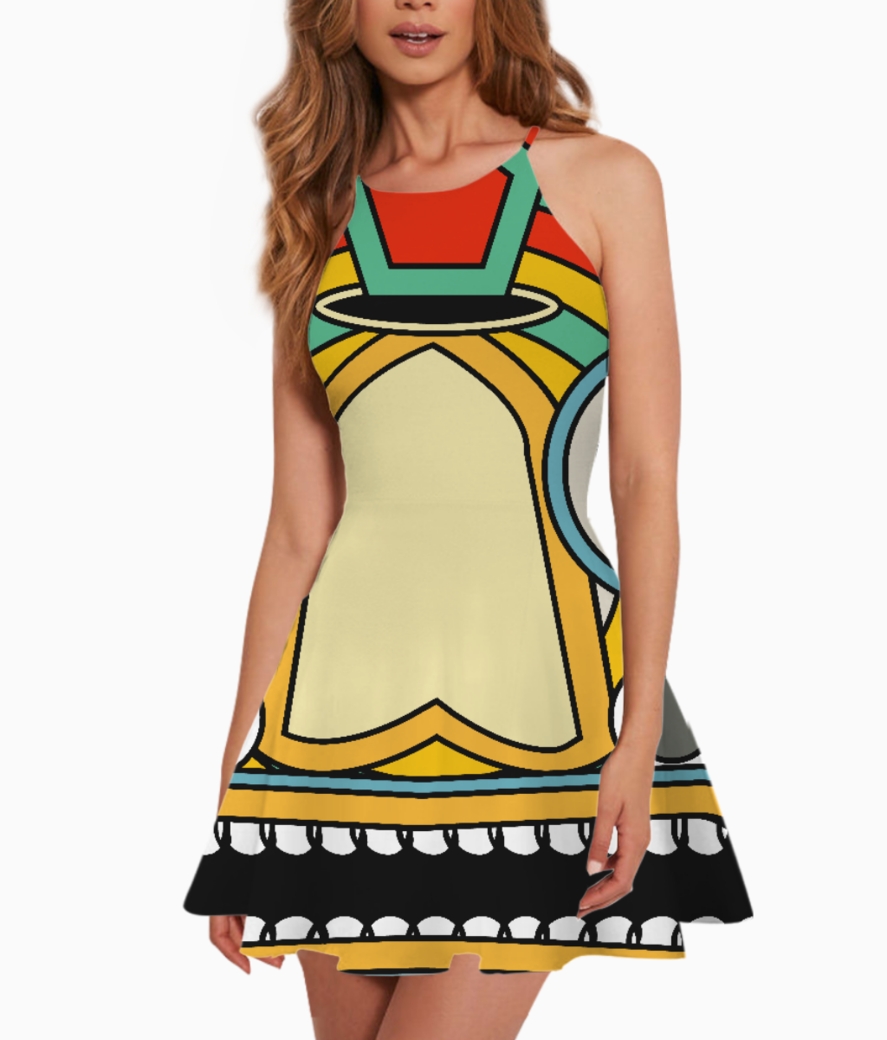 Indian tribal summer dress front