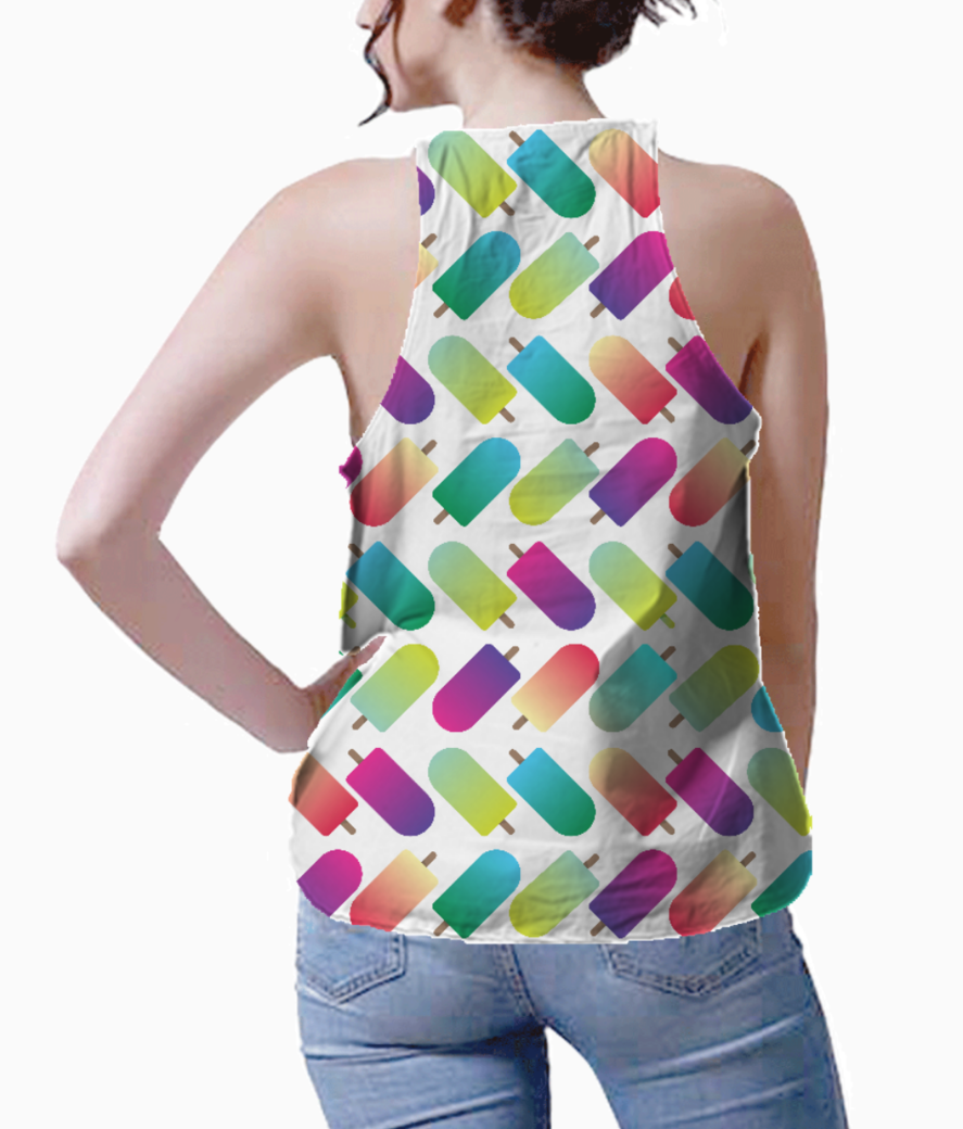 Artlife color popsicles pillow tank back