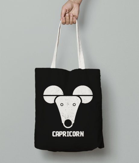 Capricorn sign tote bag front