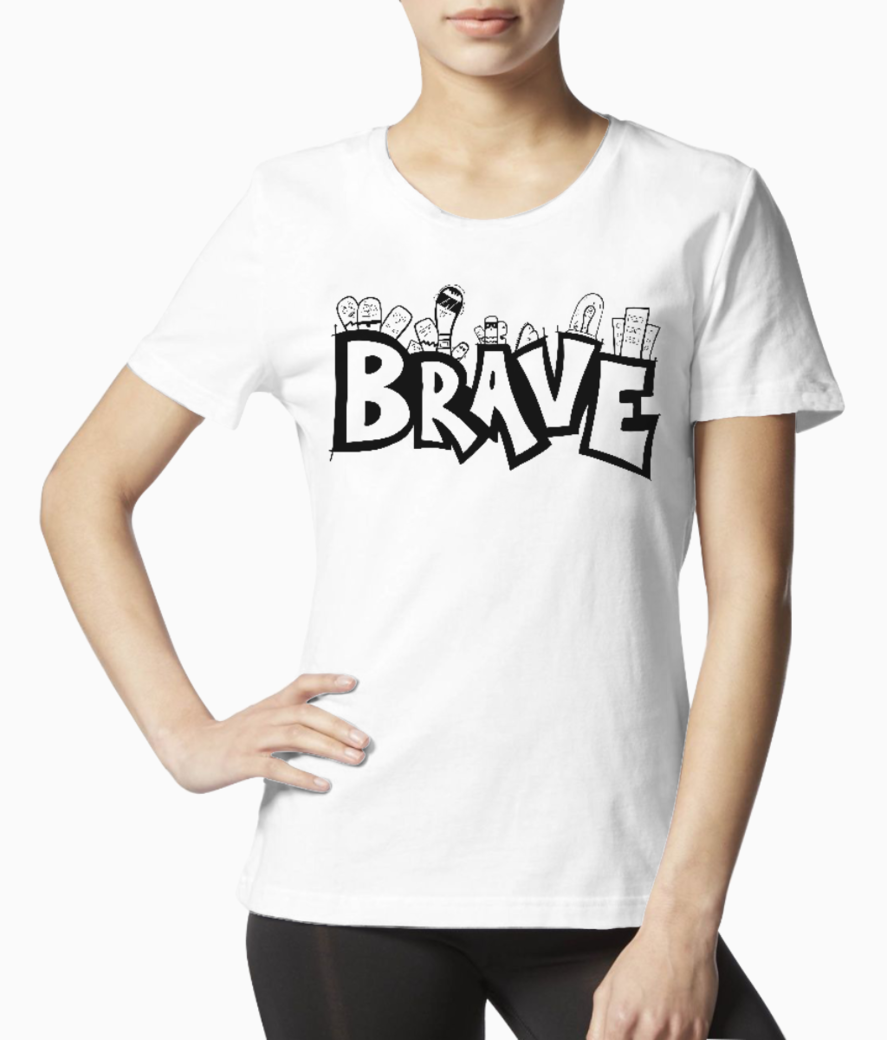 Brave black tee front