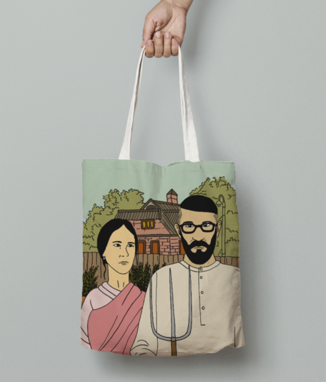 Indiangothic tote bag front