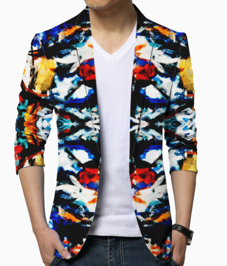 Abstract art blazer front