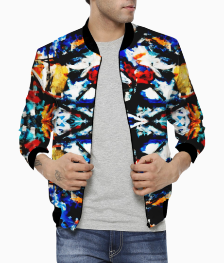 Abstract art bomber front