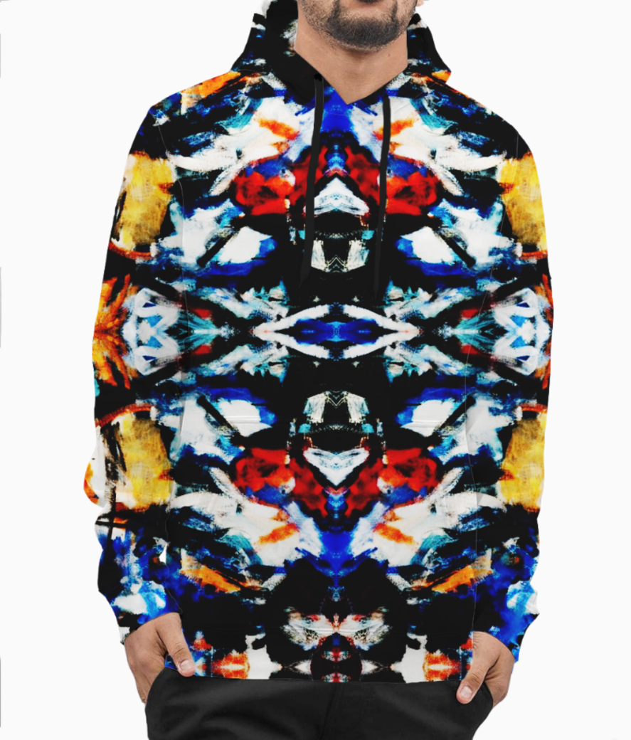 Abstract art hoodie front