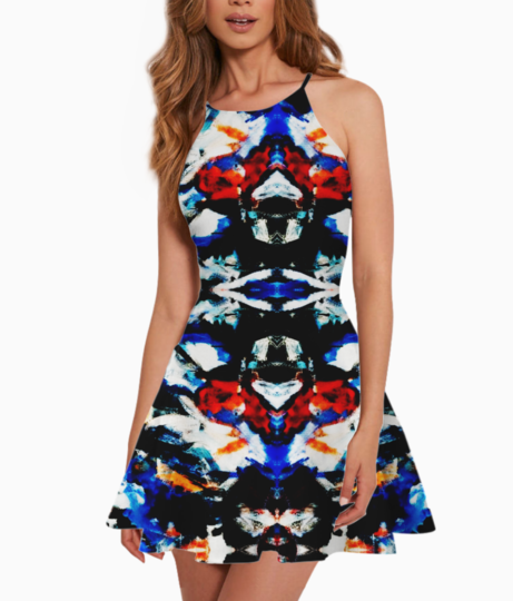 Abstract art summer dress front