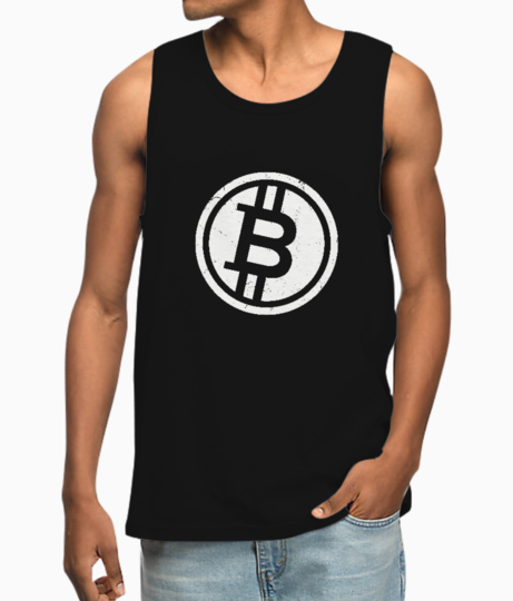 Bitcoin sign vest front