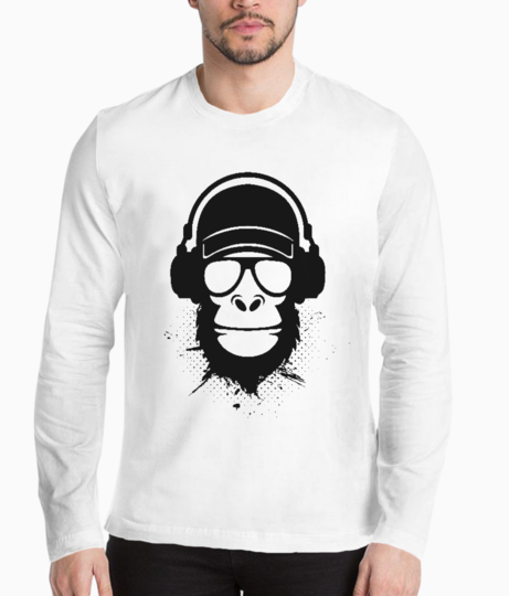 Cool dude monkey henley front