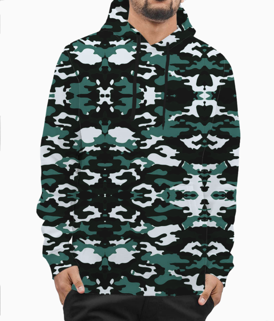 Abstract camo hoodie front