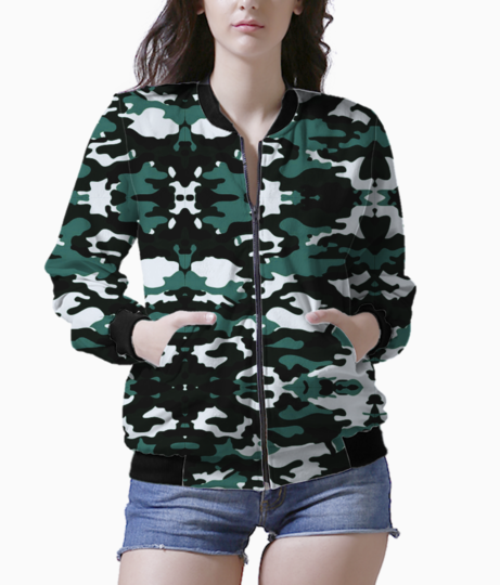 Abstract camo bomber front