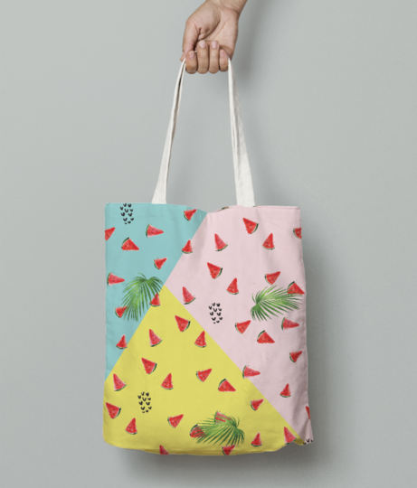 Summer melons tote bag front