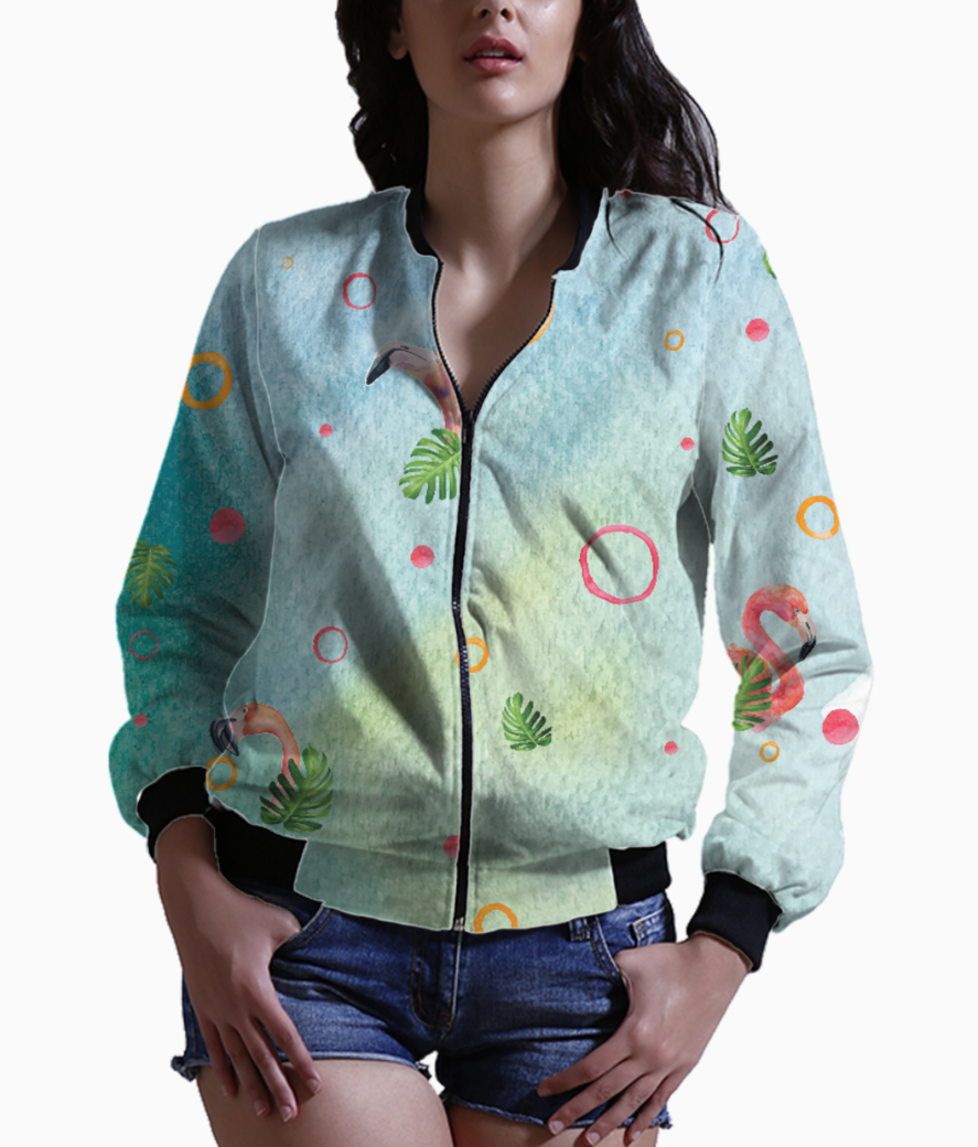 Flamingo party 2 bomber front