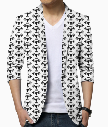 Aries astrology pattern blazer front