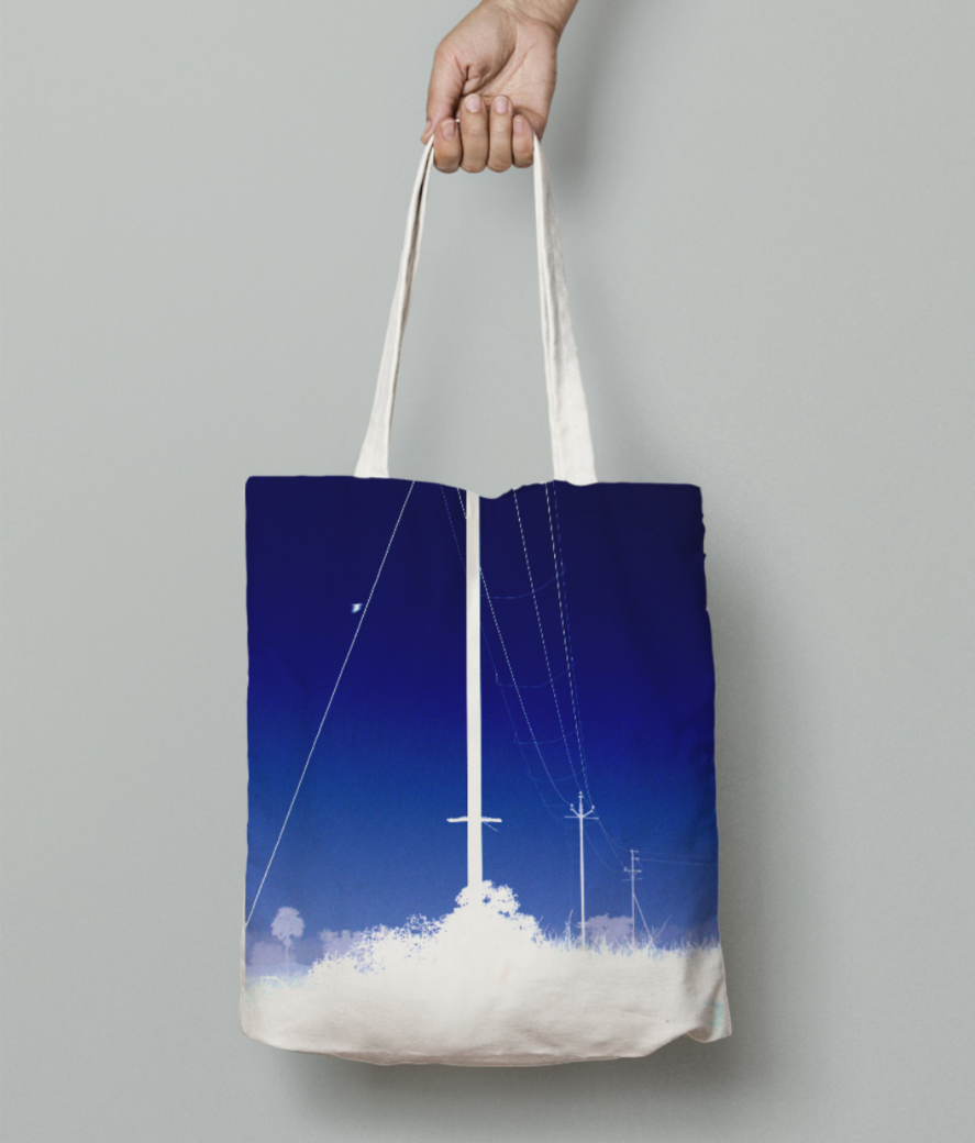 Electricity tote bag front