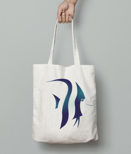 Fish strips tote bag front