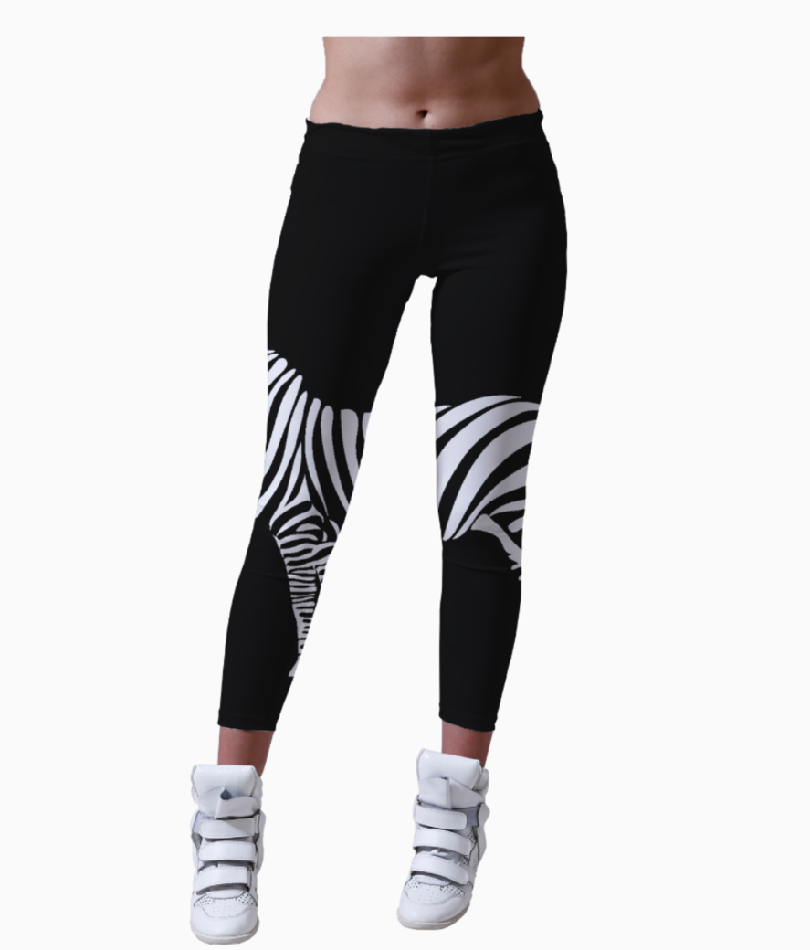Zebra leggings front