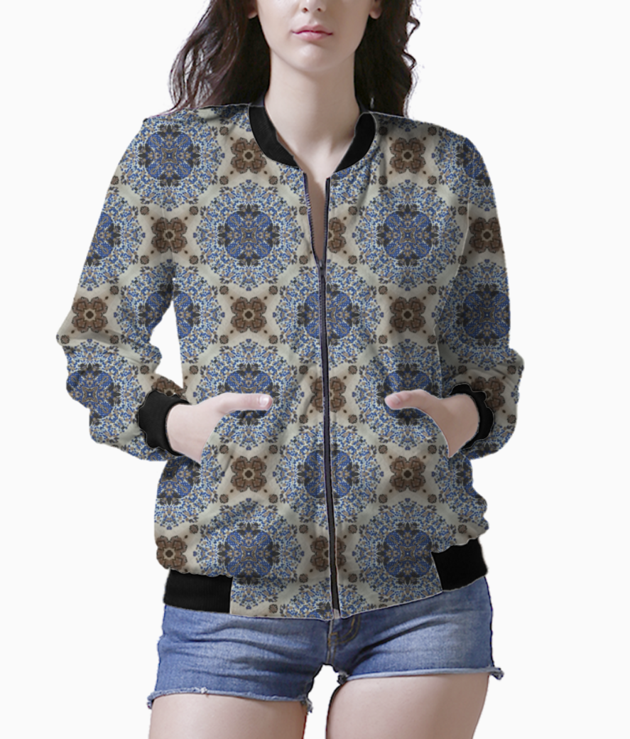 Blue bloom bomber front
