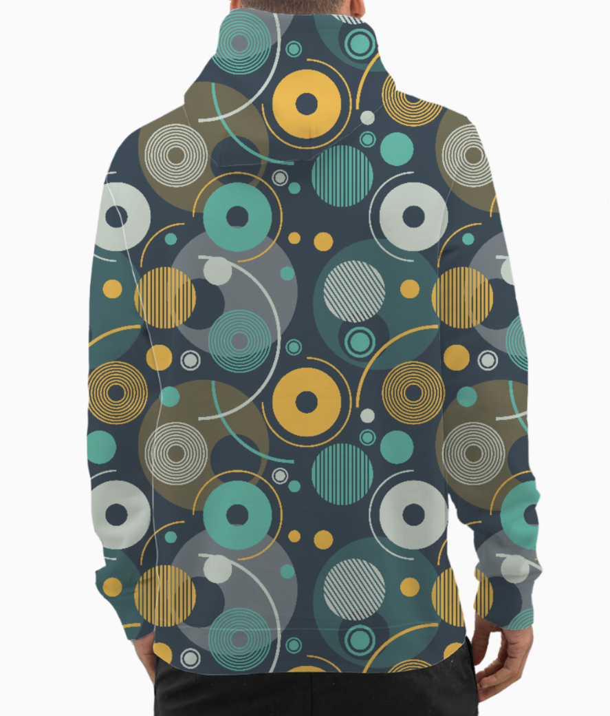 Rounded shapes hoodie back