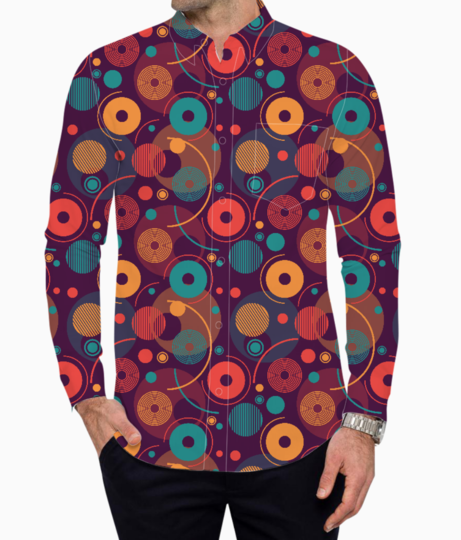 Colorful rounded shapes basic shirt front