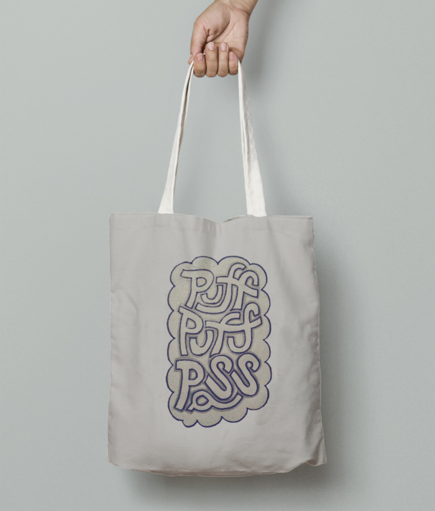 Puff puff1 tote bag front