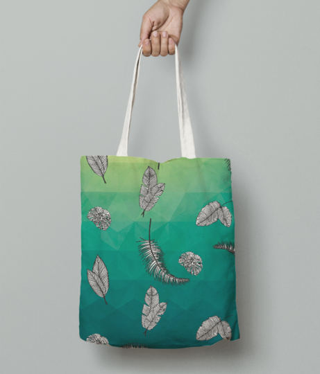 Tropical greens tote bag front