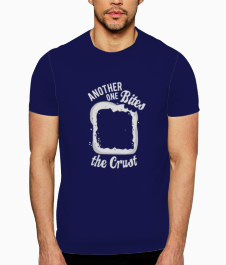 Bites the crust t shirt front