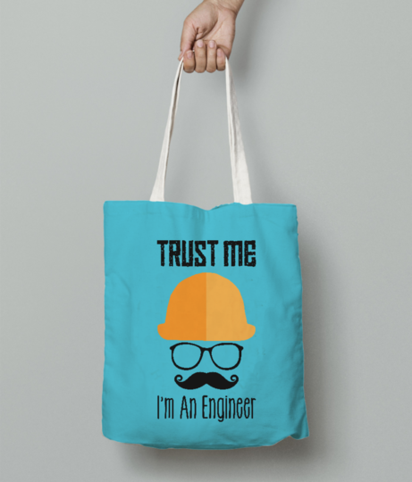Trust me im an engineer tote bag front