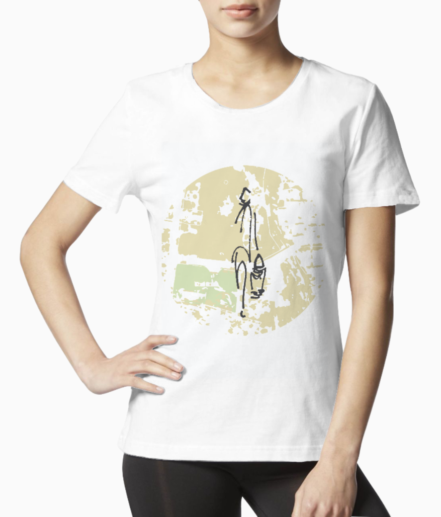 Lost days white tee front