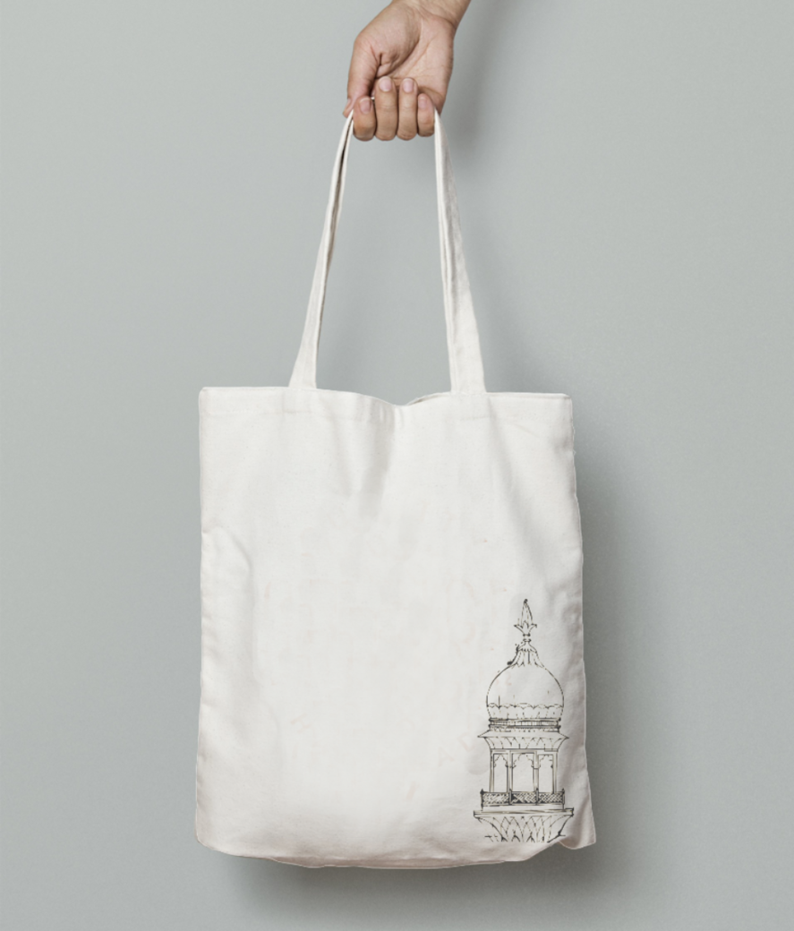 Architecture tote bag front