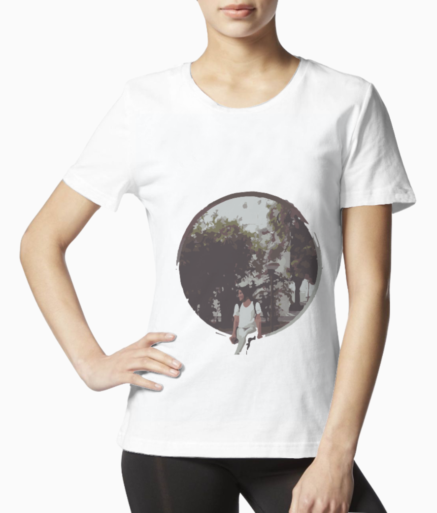 The girl tee front