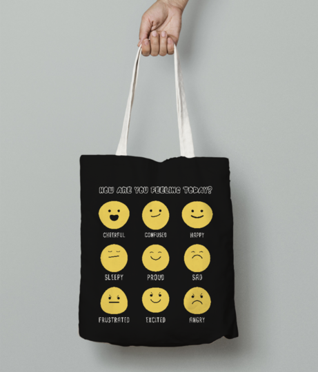 Today feeling tote bag front