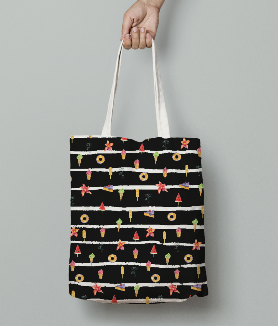 French summer negetive tote bag front